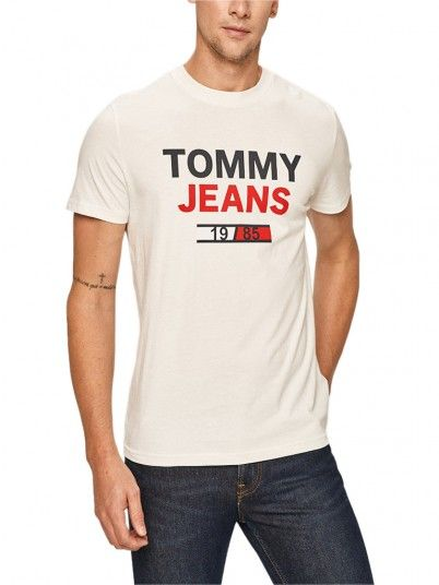 T-Shirt Man Logo White Tommy Jeans