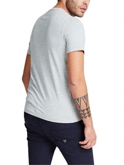 T-Shirt Uomo Grigio Guess
