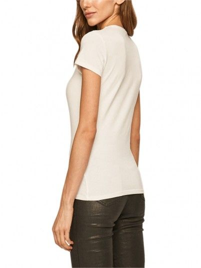 T-Shirt Donna Icon Bianco Guess