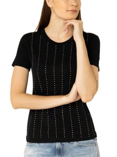T-Shirt Donna Nero Guess