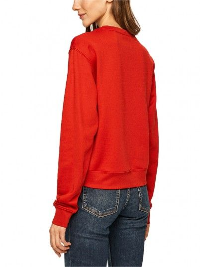 Sweatshirt Woman Red Guess