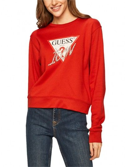 Sweatshirt Mulher Basic Guess