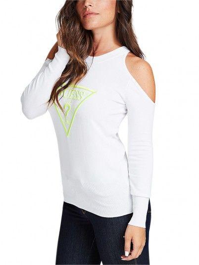 Sweatshirt Donna Bianco Guess