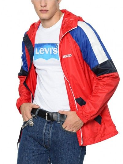 Jacket Man Colorblock Red Levis