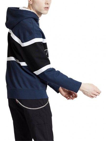 Sweatshirt Uomo Blu Navy Levis