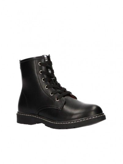 Boots Girl Black W / White Mtng