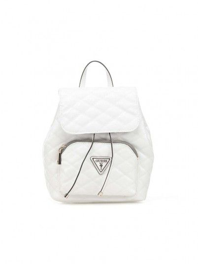 Backpack Woman White Guess