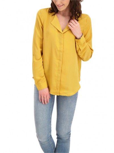 Camisa Mujer Mostaza Vero Moda