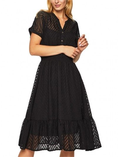 Dress Woman Melina Black Jacqueline di Young