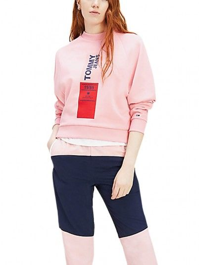 Sweatshirt Mujer Rosa Tommy Jeans