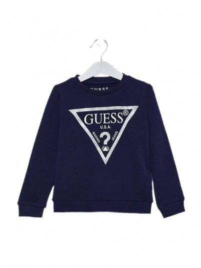 Sweatshirt Girl Navy Blue Guess