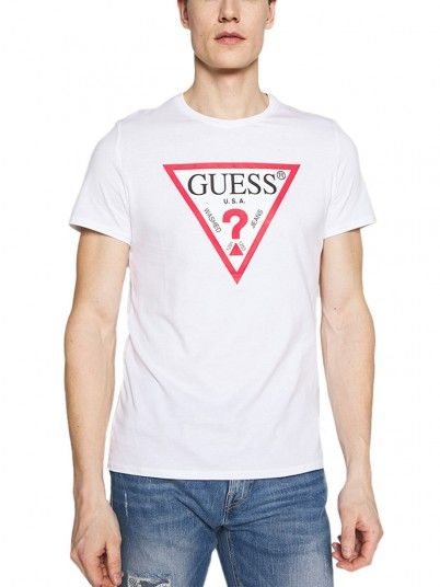T-Shirt Man Cn White Guess