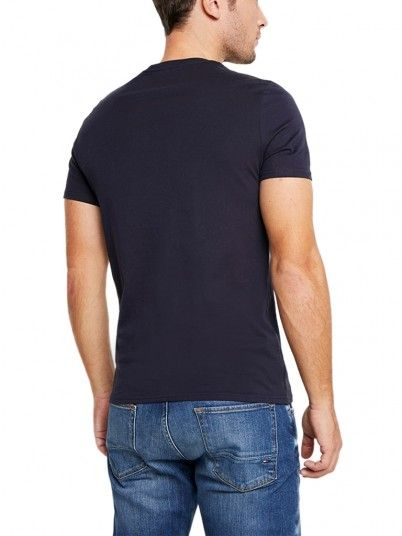 T-Shirt Man Navy Blue Guess