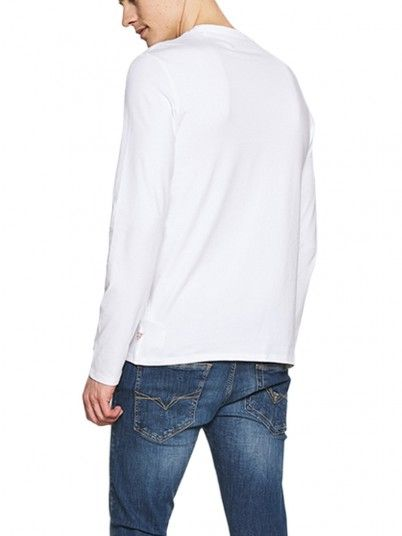 Sweatshirt Man White Guess