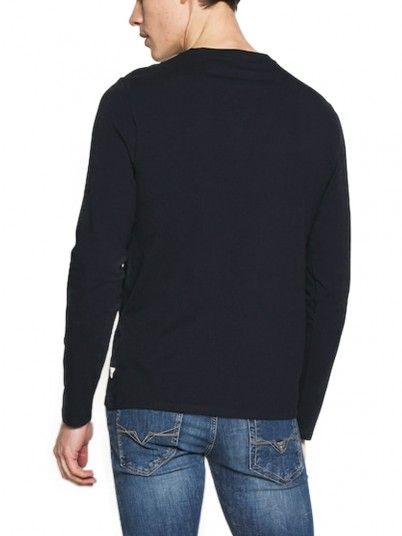 Sweatshirt Man Navy Blue Guess