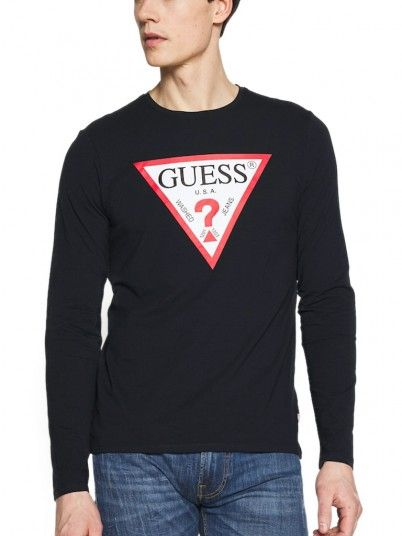 Sweatshirt Hombre Azul Marino Guess