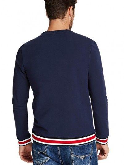 Sweatshirt Man Allyn Navy Blue Guess