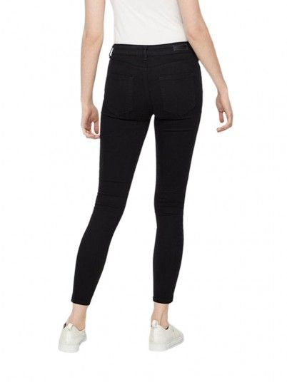 Pantaloni Donna Delly Nero Pieces