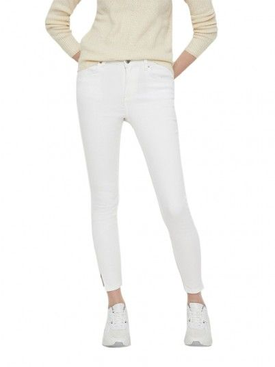 Pantaloni Donna Delly Bianco Pieces