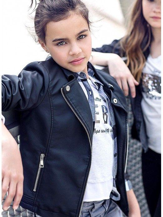 Jacket Girl Black Tiffosi Kids