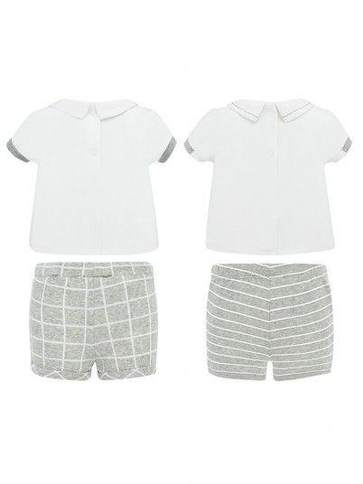 Conjunto camisola e calções estampados bebé Mayoral