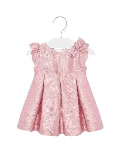 Vestido com jacquard laço bebé menina Mayoral