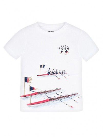 T-shirt manga curta print menino Mayoral