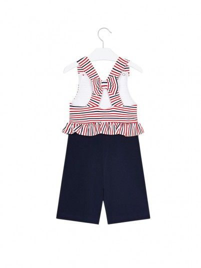 Overall Girl Navy Blue Mayoral