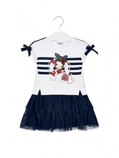 Dress Girl Tule Navy Blue Mayoral