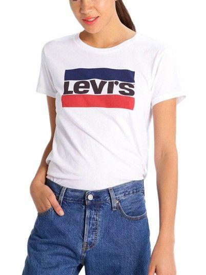 Camiseta Mujer Crema Levis