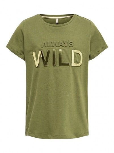 T-Shirt Ragazza Suvi Verde Only Kids