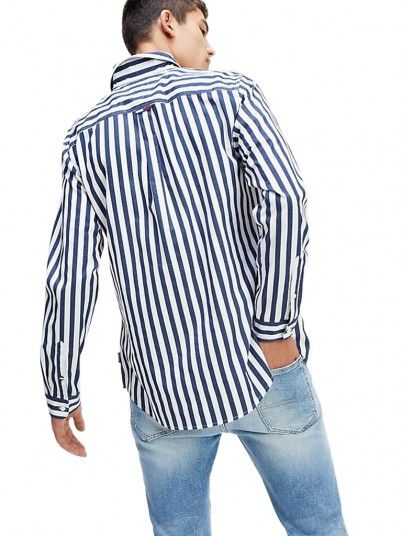Shirt Man Stripe Risca Blue Tommy Jeans