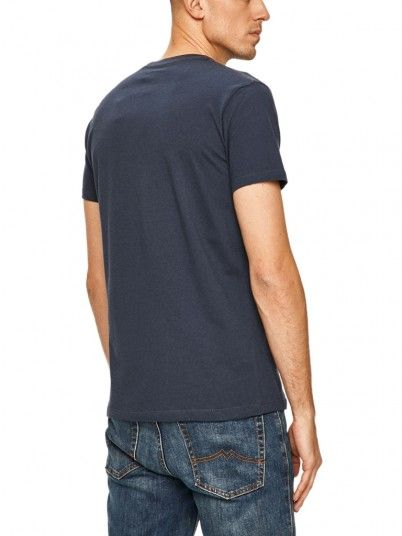 T-Shirt Man Navy Blue Pepe Jeans London