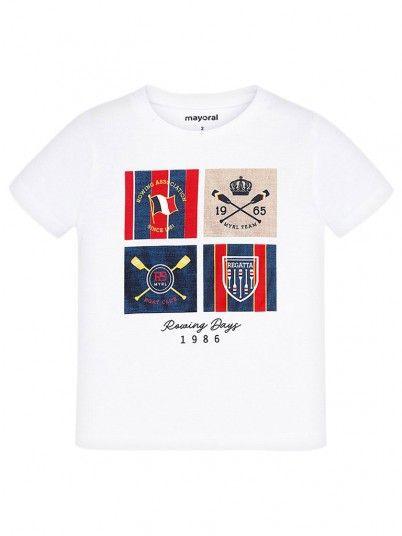 T-Shirt Manga Curta Menino Mayoral