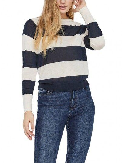 Tricot Donna Blu Navy Vero Moda