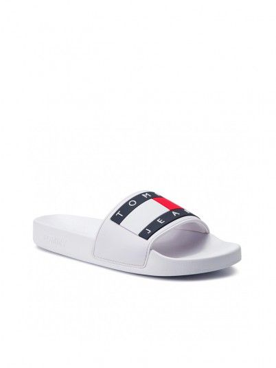 Slippers Woman Pool White Tommy Jeans Footwear