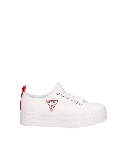 Sneakers Woman Brigs White Guess