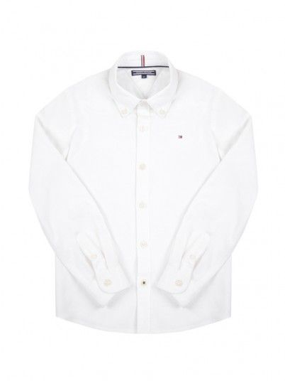 Camisa Niño Oxford Blanco Tommy Jeans Kids