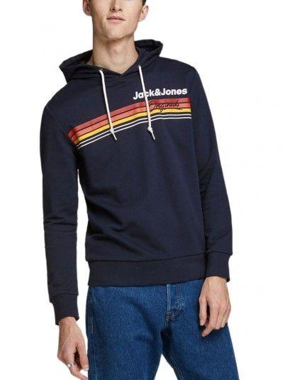 Sweatshirt Uomo Blu Navy Jack & Jones