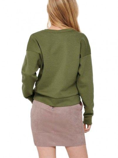 Sweatshirt Donna Verde Only
