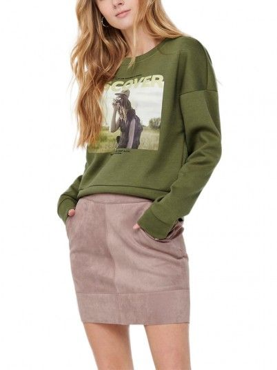 Sweatshirt Woman Green Only