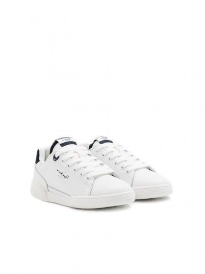 Tenis Niño Blanco Pepe Jeans London