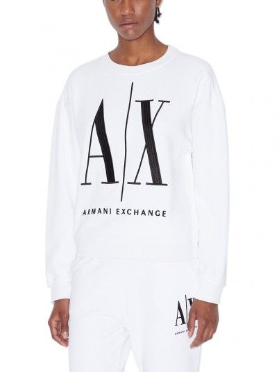 Sweatshirt Woman White Armani Exchange