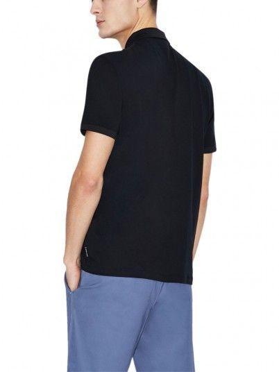 Polo Shirt Man Dark Blue Armani Exchange