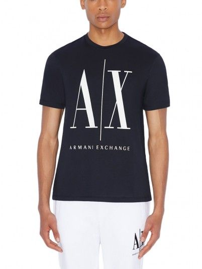 T-Shirt Man Armani Navy Blue Armani Exchange