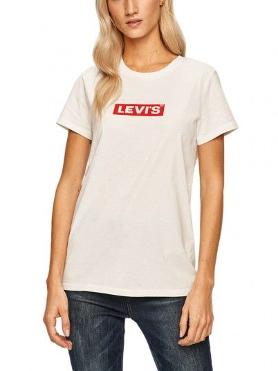 T-Shirt Woman Perfect Red Stripe Levis