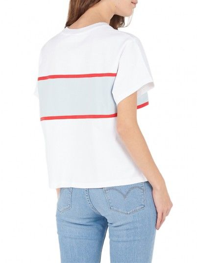 T-Shirt Donna Cameron Bianco Levis