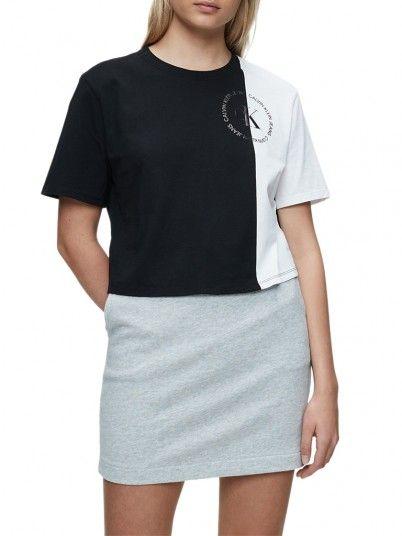 T-Shirt Mulher Blocked Calvin Klein