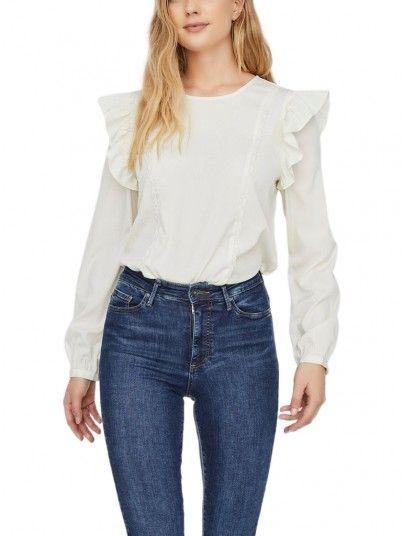 Shirt Woman Inez Cream Vero Moda