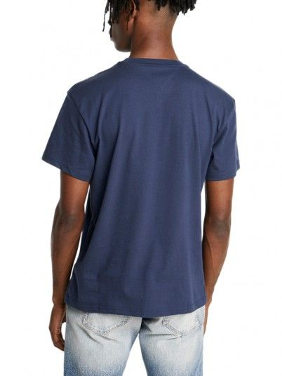 T-Shirt Man Flag Navy Blue Tommy Jeans